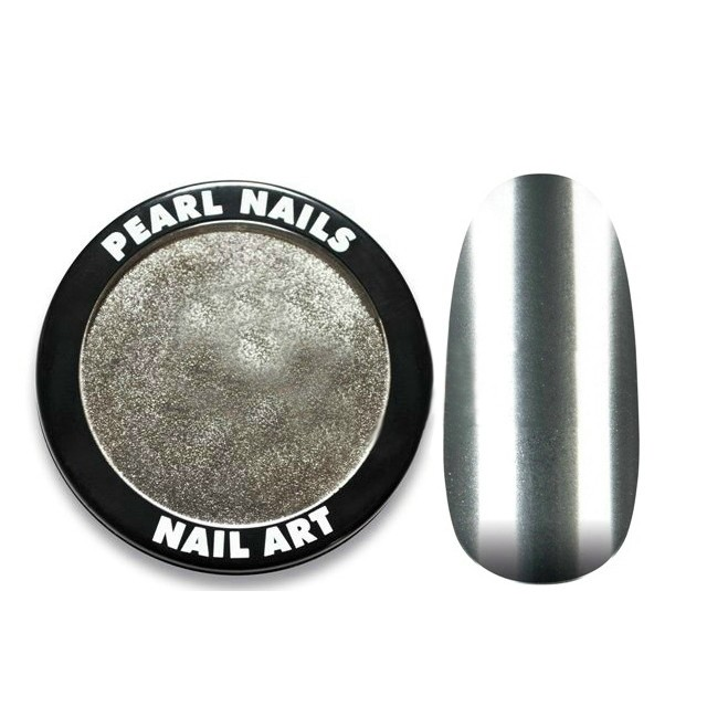 Pearl Nails Chrome Powder- Silver