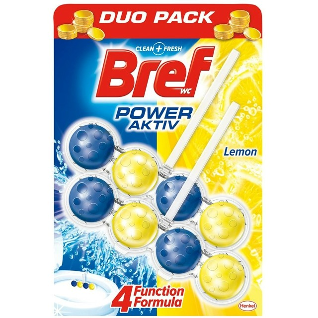 Bref Wc illatosító Duo 2x50g Lemon