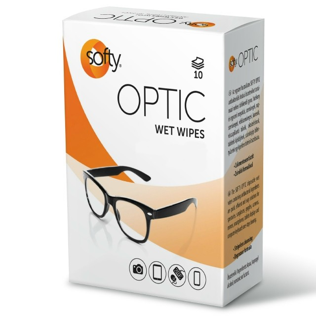 Softy Optic Clean Szemüveg törlőkendő 10db