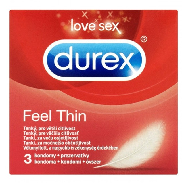 Durex óvszer 3db Feel Thin