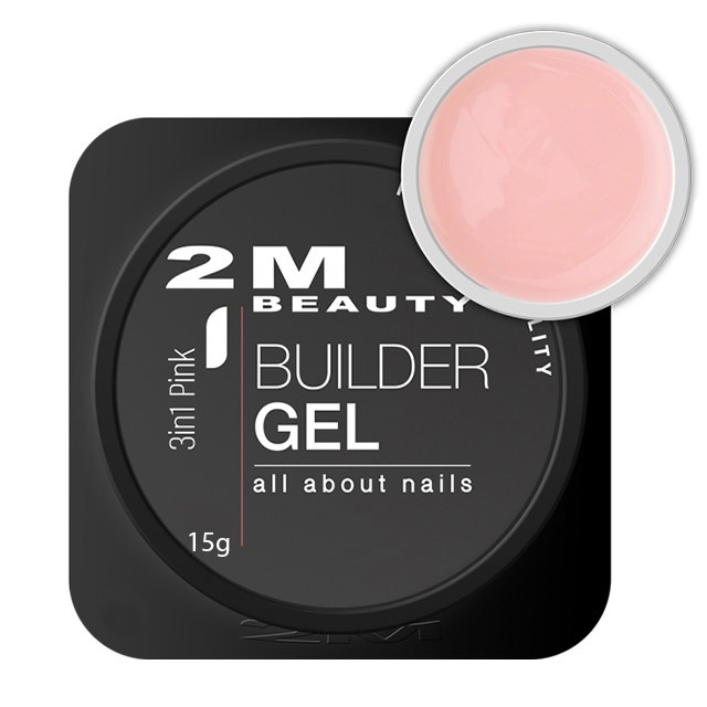 2MBEAUTY Zselé - Renewed 3in1 Pink építőzselé 15g