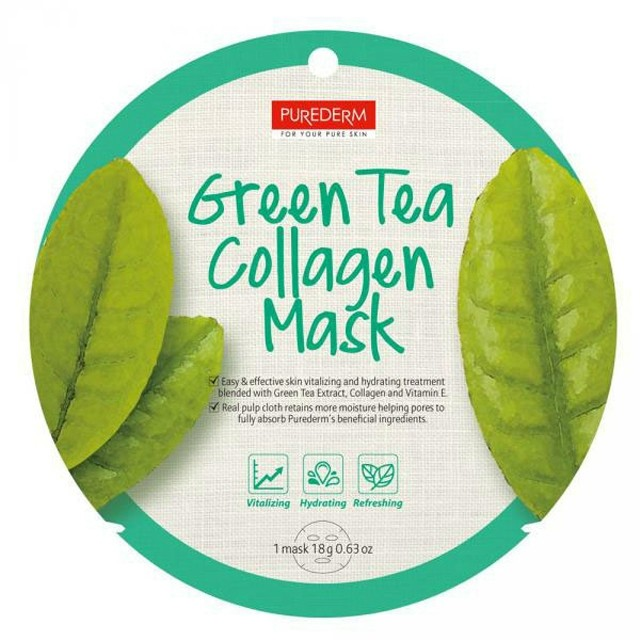 PureDerm Green Tea maszk circle PD807