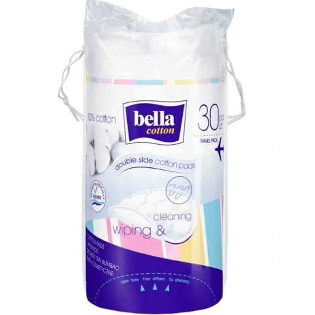 Bella Cotton Kozmetikai Vattakorong 30db