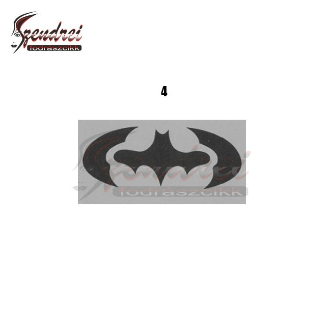 Barber Hair Tattoo Sablon 4db/csomag - Batman(4)
