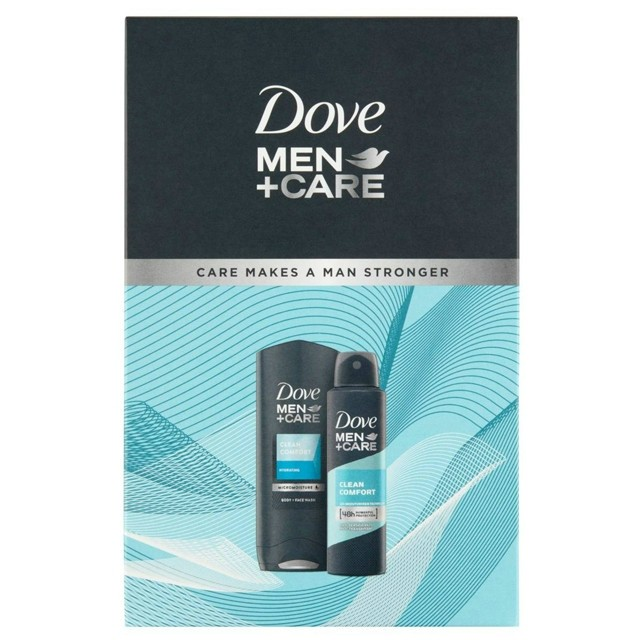 Dove Ajándékcsomag Men-Clean Comfort-Tusfürdő 250ml+Deo Spray 150ml