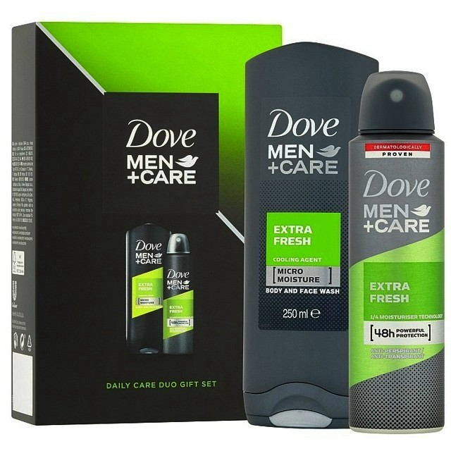 Dove Ajándékcsomag Men-Extra Fresh-Tusfürdő 250ml+Deo Spray 150ml