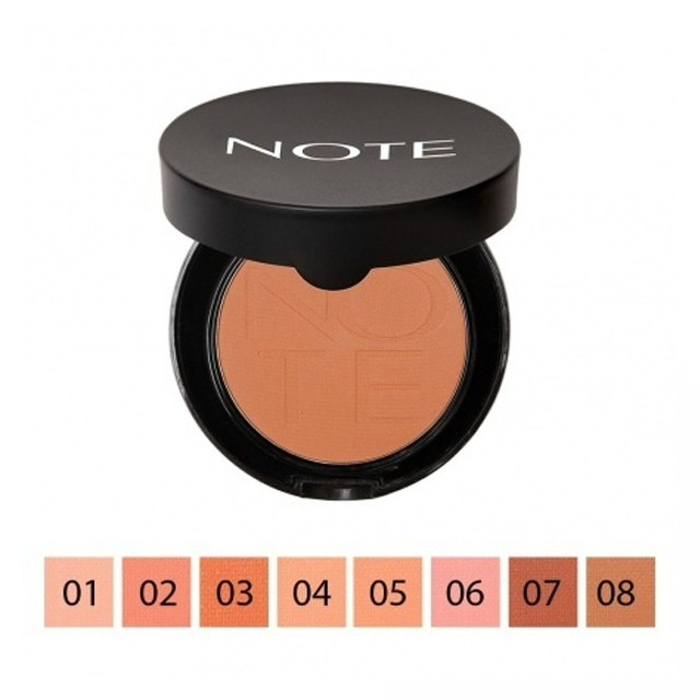 NOTE luminous Silk Compact Pirosító Bronz 08