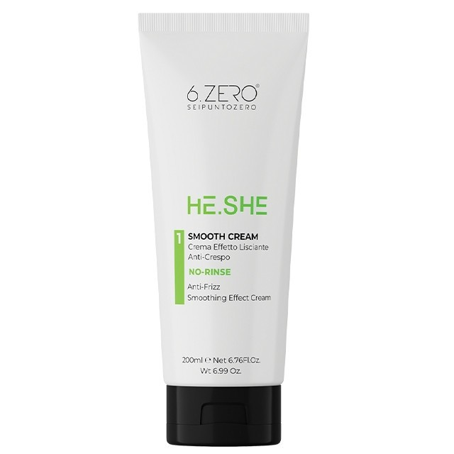 6.ZERO He.She Smooth Cream - hajkisimító krém 200 ml