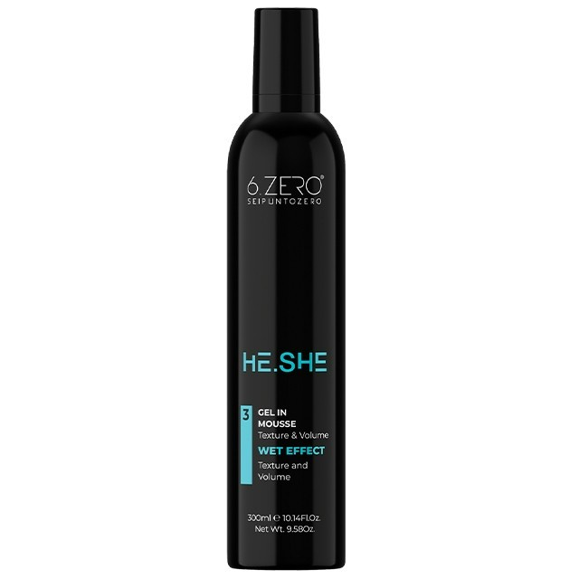 6.ZERO He.She hajhab Gel in Mousse - zselé állagú 300ml