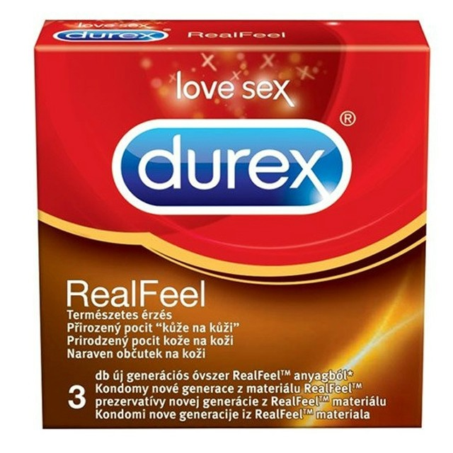 Durex óvszer 3db Real Feel