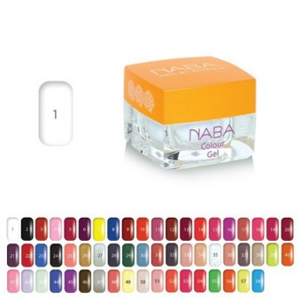 NABA colour gel 1 - 3,5ml cloud white NA612011.001