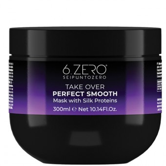 6.ZERO Take Over hajpakolás - Perfect Smooth - egyenes&rakoncátlan hajra 300ml