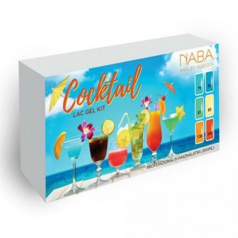 NABA Cocktail Lac Gel Kit 6x4ml Színes lakk zselé szett NA651114