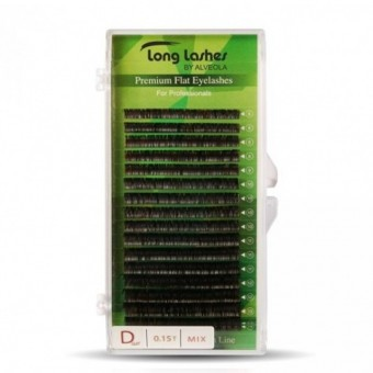 Long Lashes Flat pilla D / 0,15 - 8-9-10-11-12-13-14mm LLFD9150000