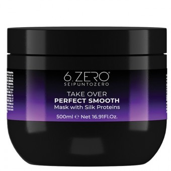 6.ZERO Take Over hajpakolás - Perfect Smooth - egyenes&rakoncátlan hajra 500ml