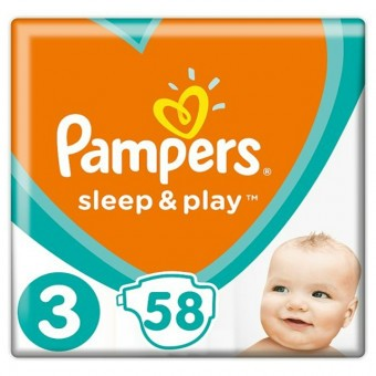"Pampers Babapelenka Sleep&Play-""3"" 6-10kg-ig 58db"